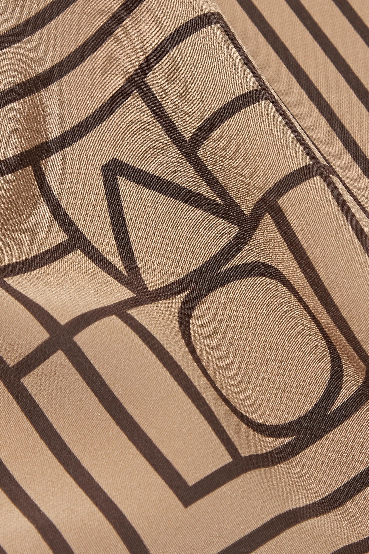 Totême Foulard en crêpe de Chine de soie à rayures