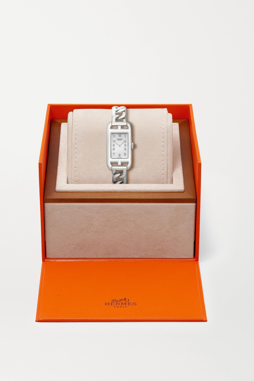 Hermès Timepieces Nantucket 17 mm sehr kleine Uhr aus Edelstahl