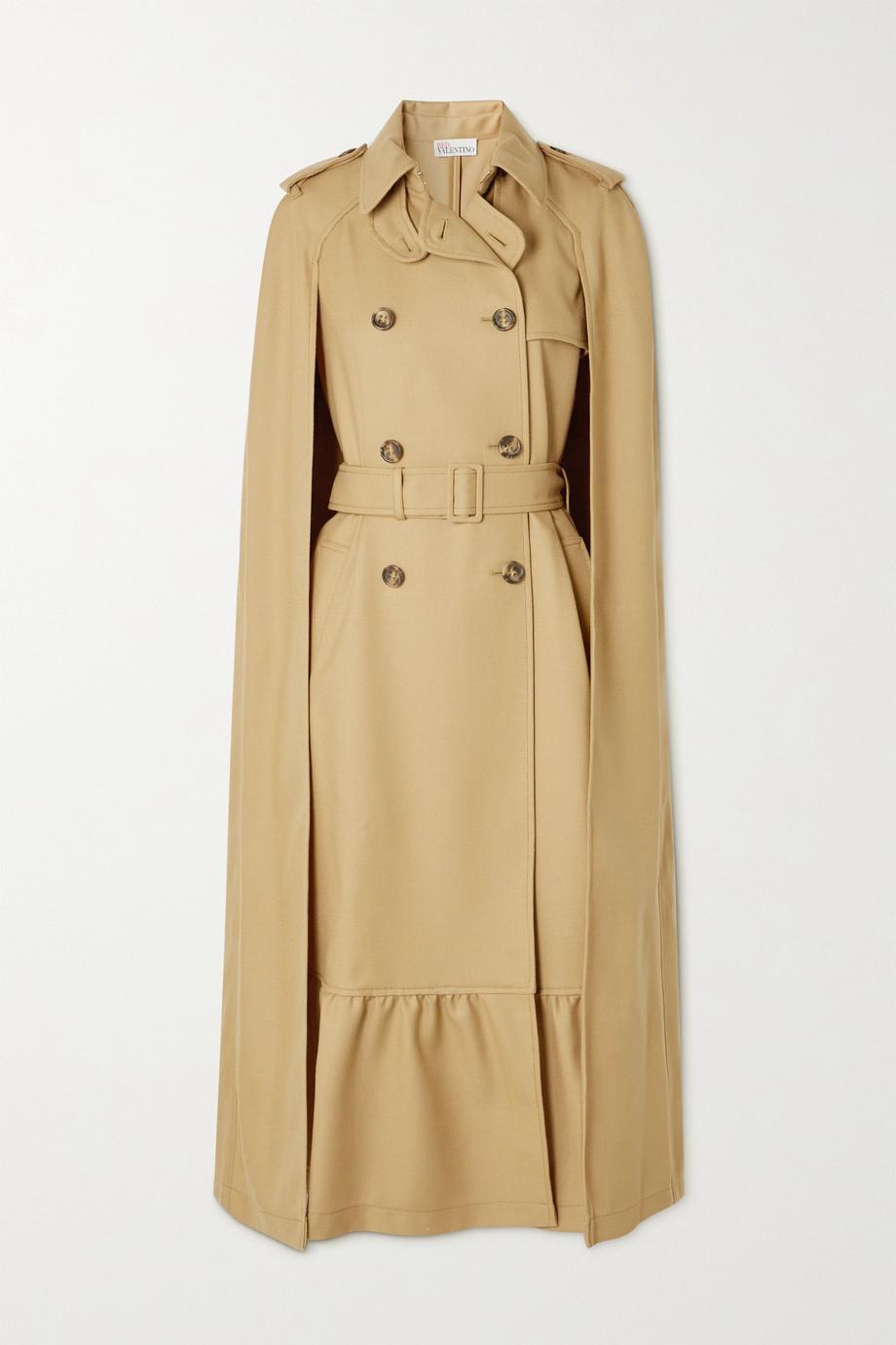 REDValentino Trench-coat effet cape en serge de laine