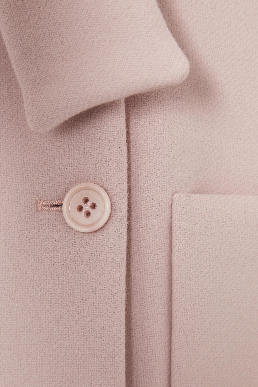 REDValentino Manteau à double boutonnage en laine mélangée à nœud