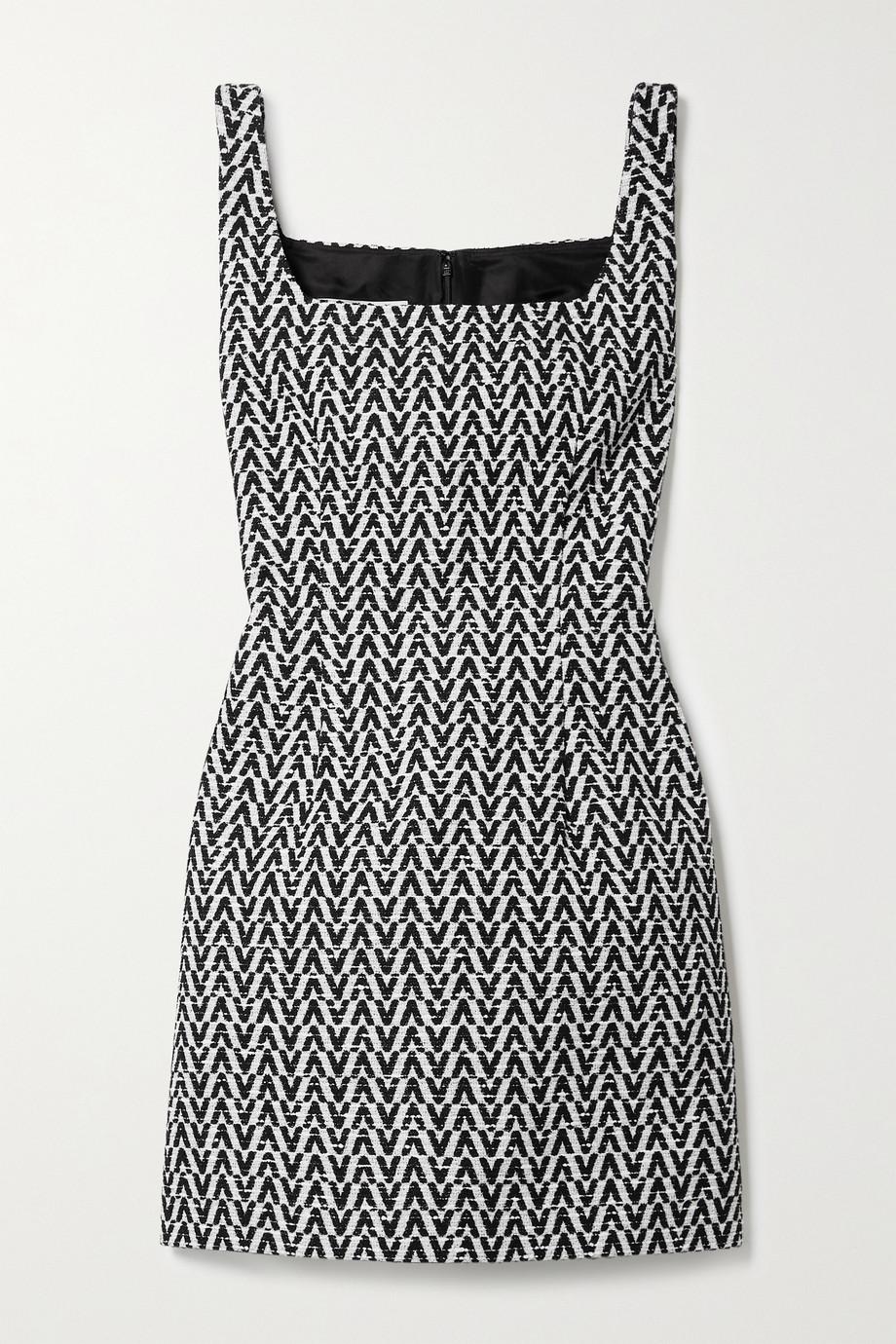 Valentino Mini-robe en bouclé de coton mélangé