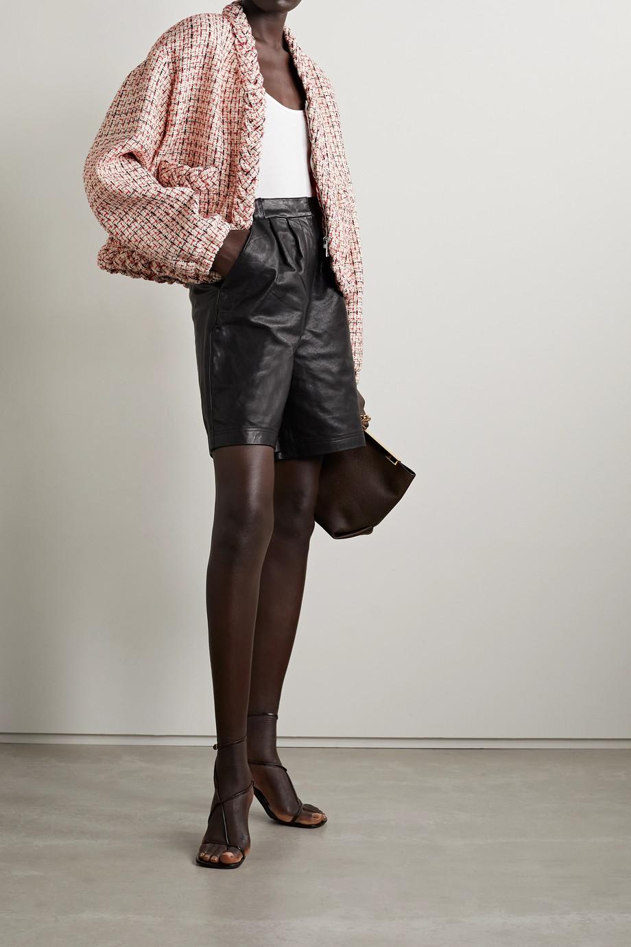 Valentino Veste en tweed de laine mélangée métallisé à carreaux
