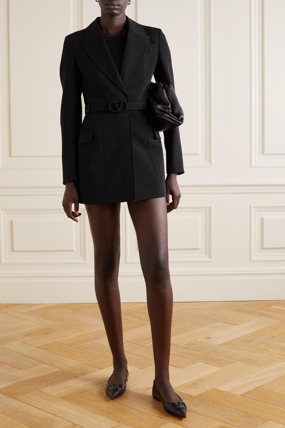 Valentino Blazer aus Woll-Twill mit Gürtel