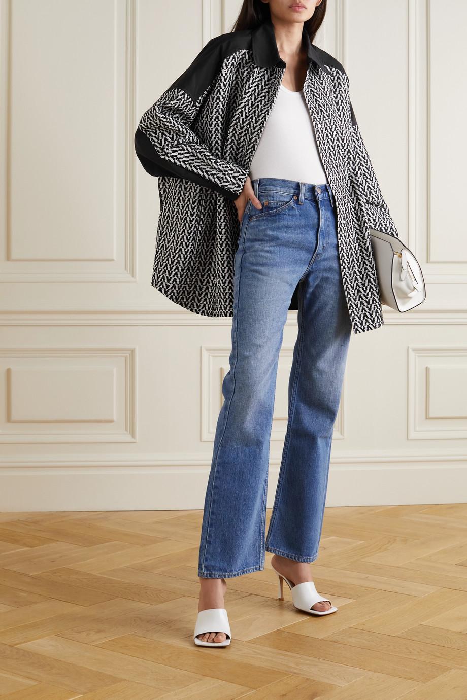 Valentino Veste en tweed bouclé et en gabardine de coton
