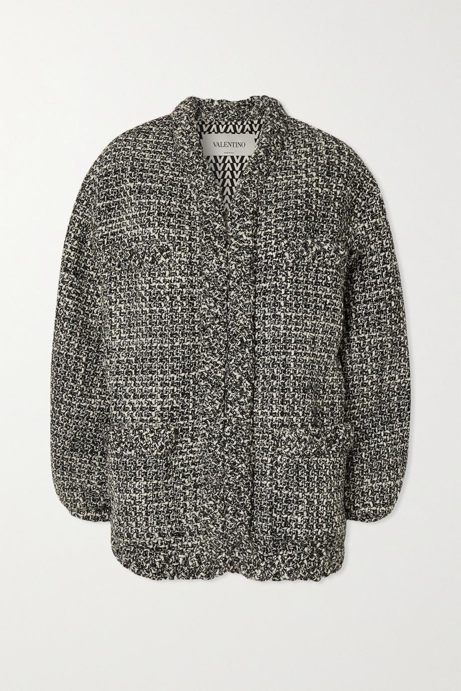 Valentino Tweed-Jacke aus einer Wollmischung