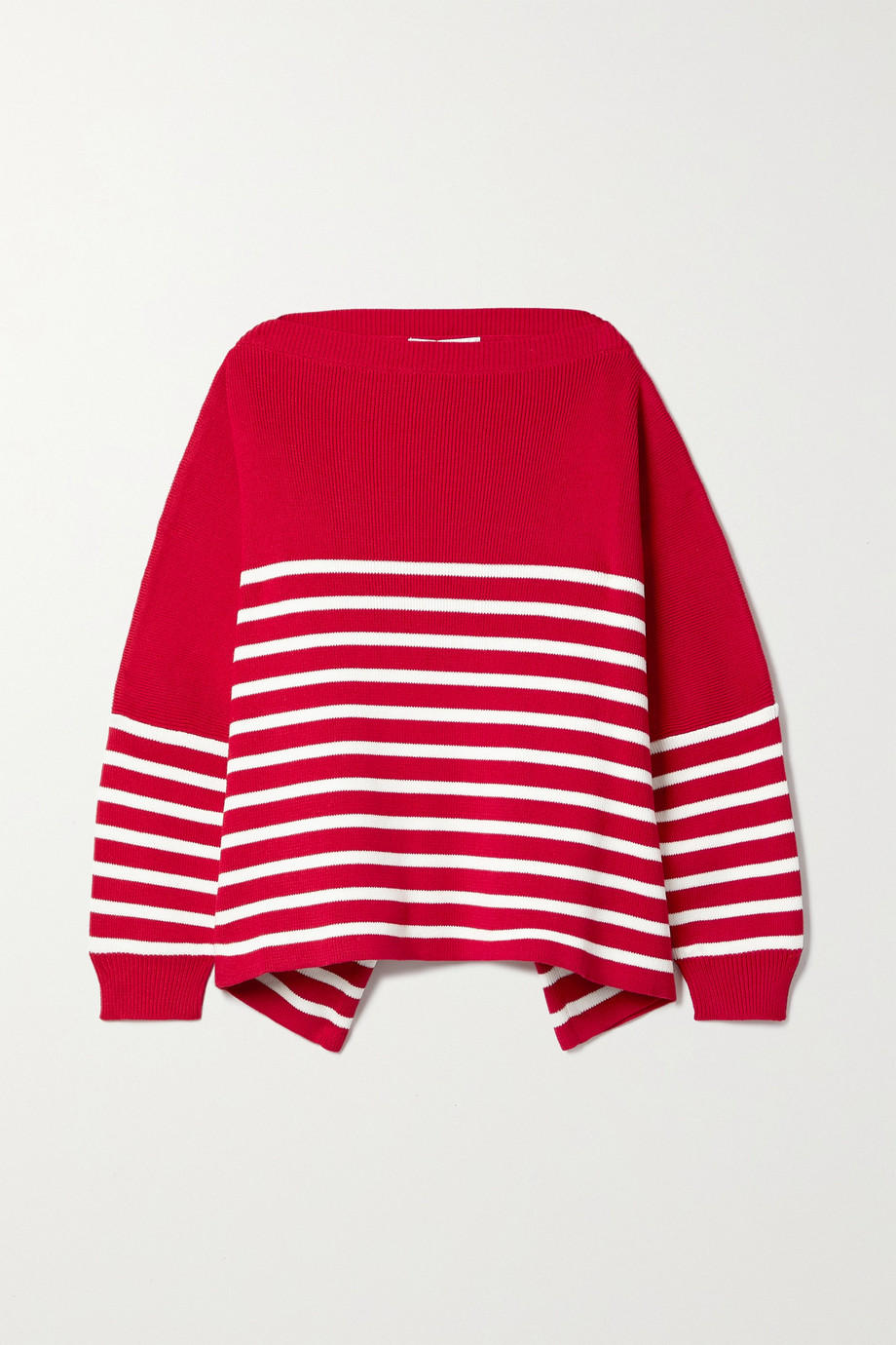 Valentino Pull oversize en coton à rayures