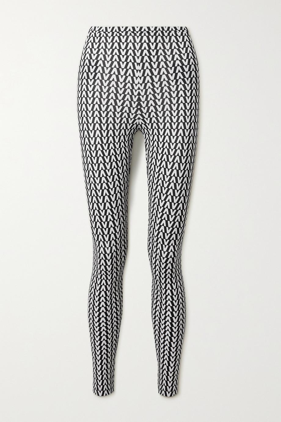 Valentino Legging en jersey stretch imprimé