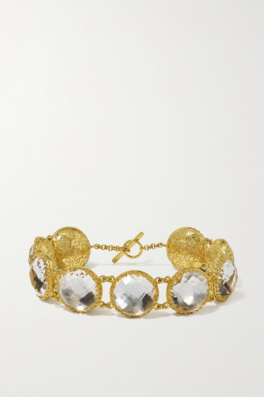 Larkspur & Hawk Olivia Button gold-dipped quartz bracelet