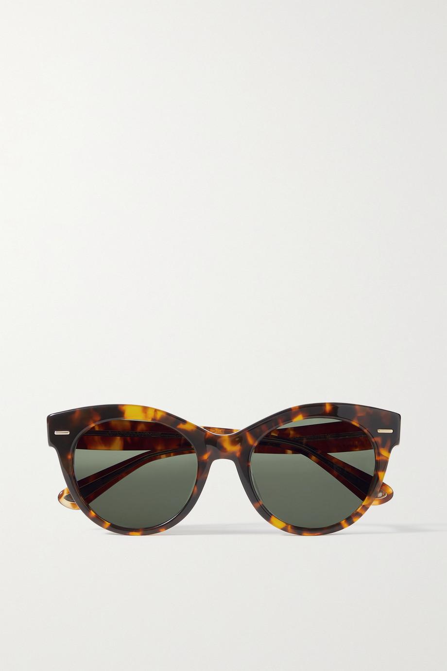 The Row + Oliver Peoples Georgica round-frame tortoiseshell acetate sunglasses