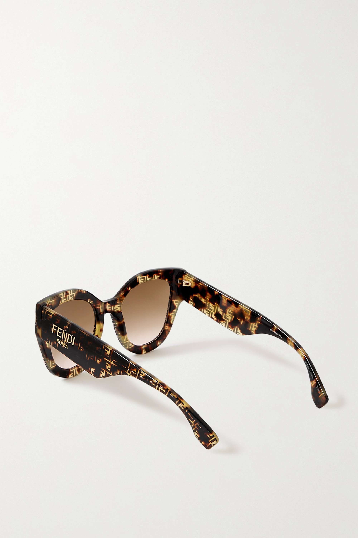 Fendi Oversized-Sonnenbrille mit D-Rahmen aus Azetat in Hornoptik