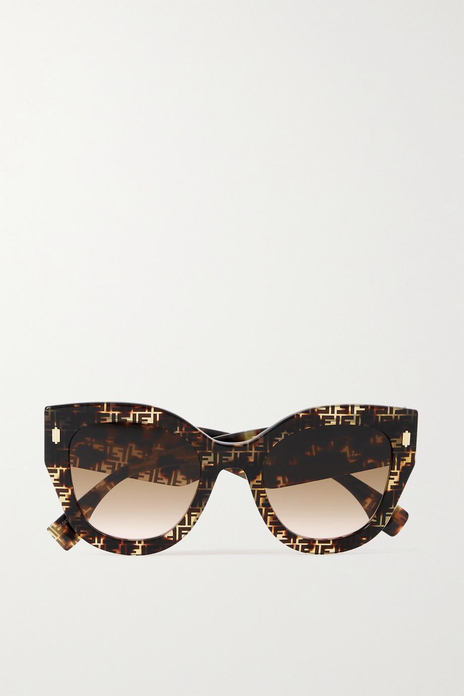 Fendi Oversized D-frame tortoiseshell acetate sunglasses