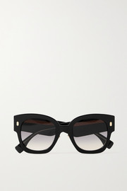Fendi Oversized D-frame acetate sunglasses