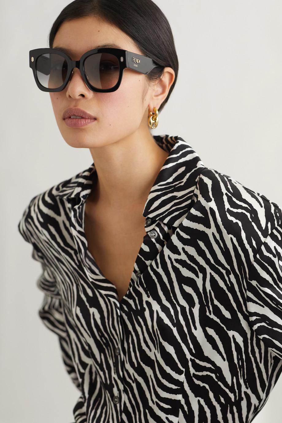 Fendi Oversized D-frame acetate sunglasses