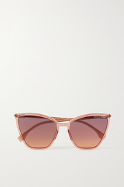 Fendi Oversized cat-eye acetate and gold-tone sunglasses