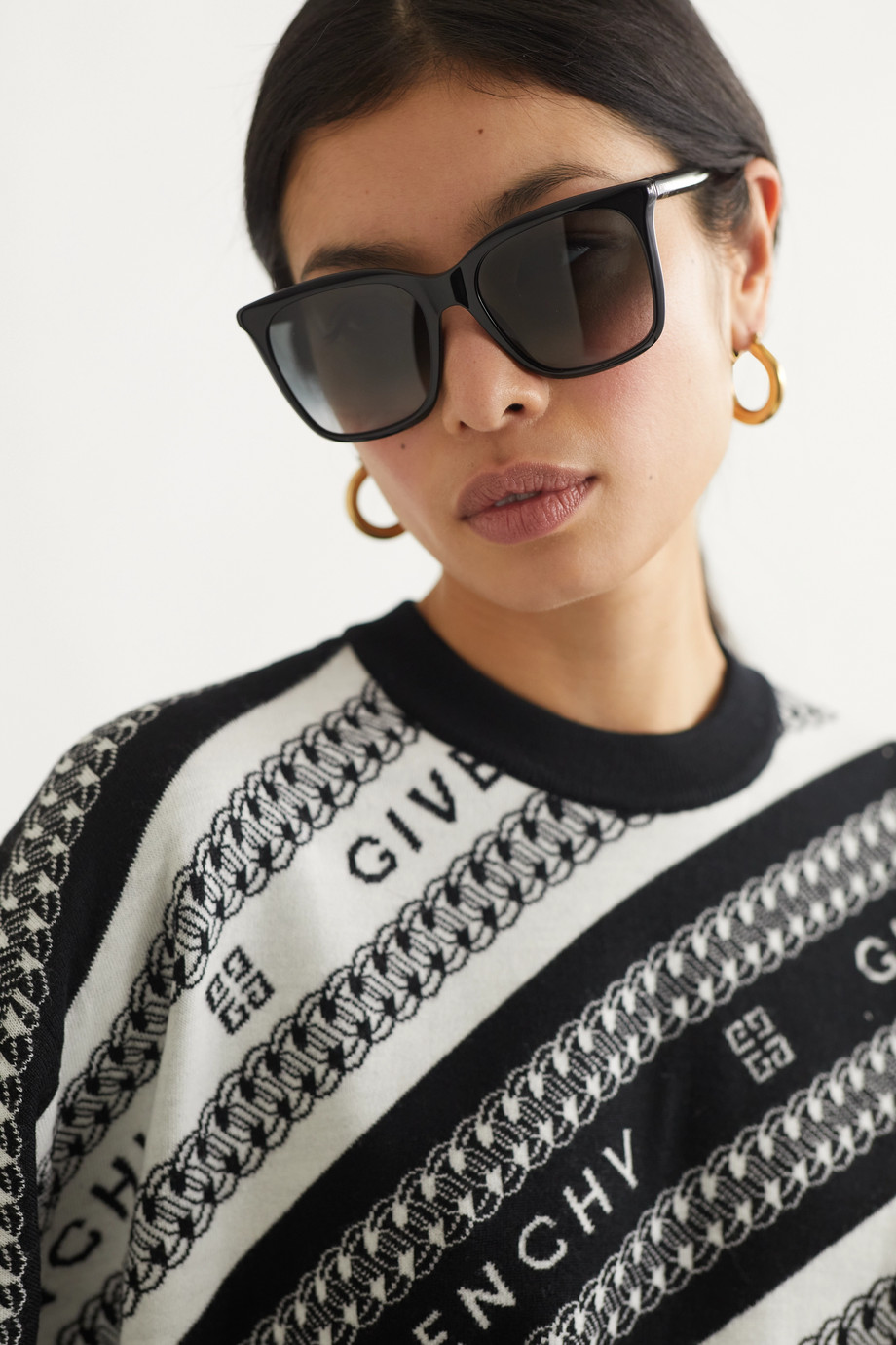 Givenchy D-frame acetate sunglasses