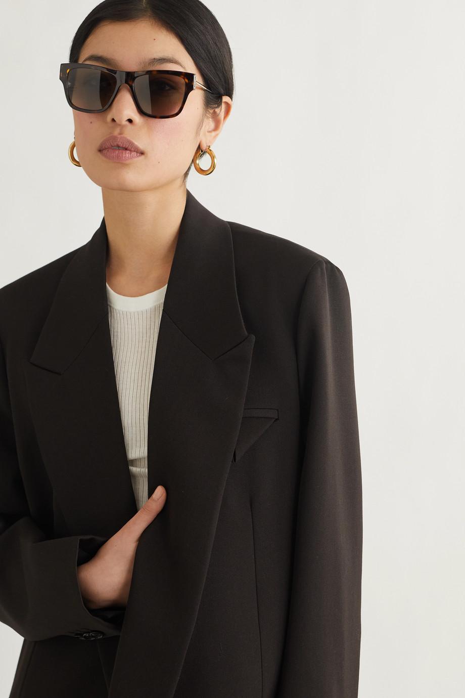 Givenchy Lunettes de soleil en D oversize en acétate effet écaille et métal doré