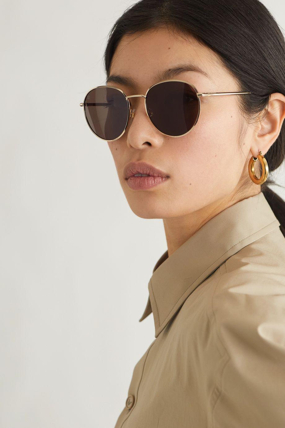 Givenchy Lunettes de soleil rondes dorées