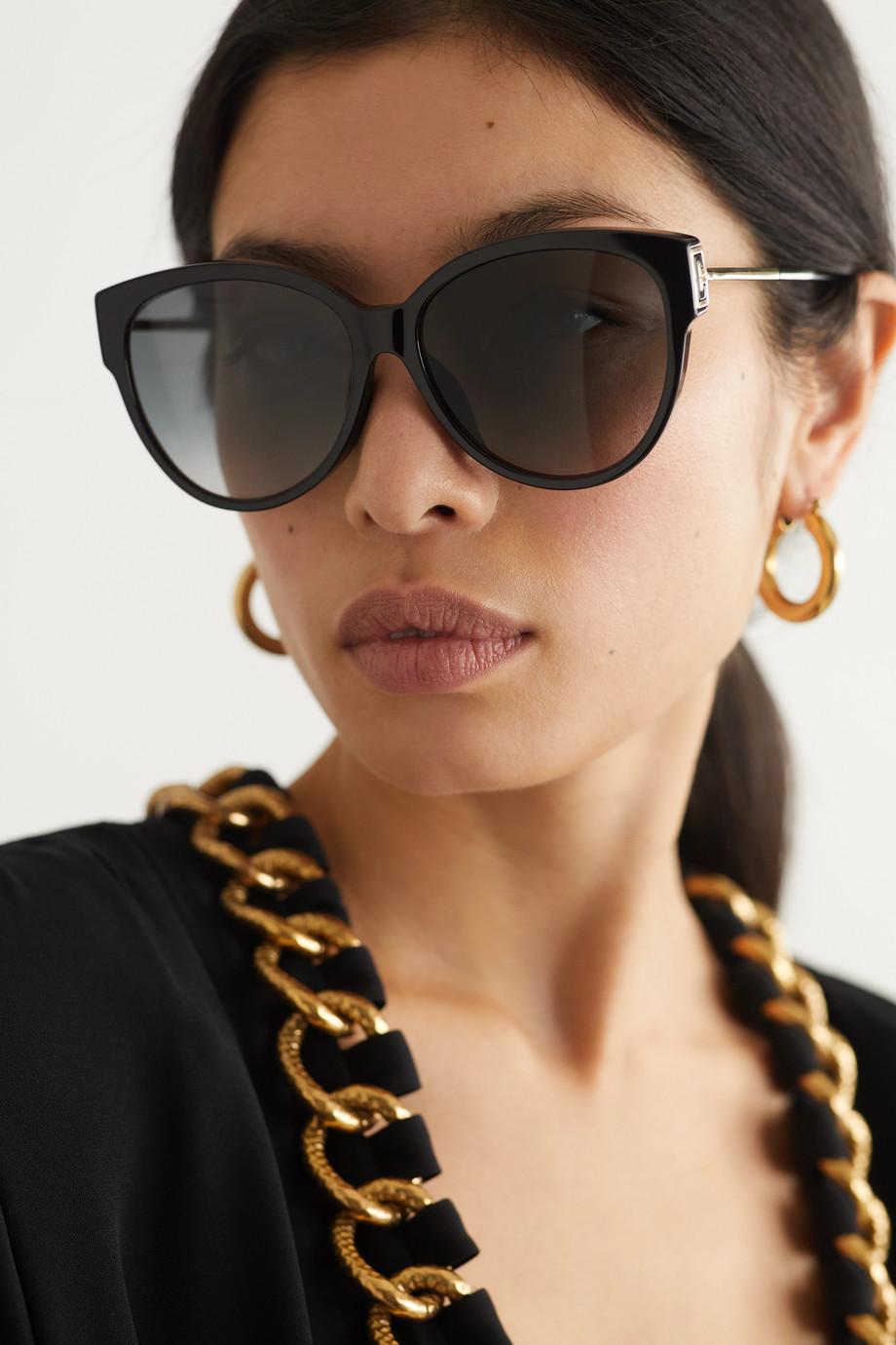 Givenchy Lunettes de soleil œil-de-chat oversize en acétate et en métal doré