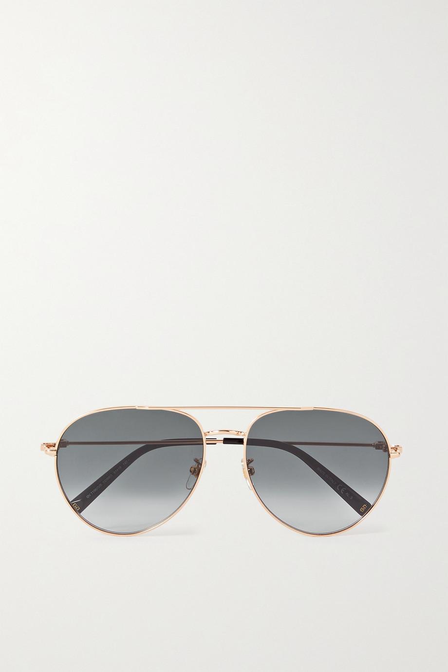 Givenchy Lunettes de soleil aviateur dorées