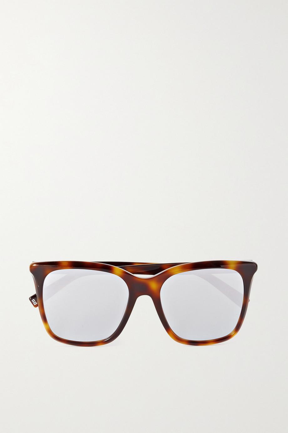 Givenchy D-frame tortoiseshell acetate mirrored sunglasses