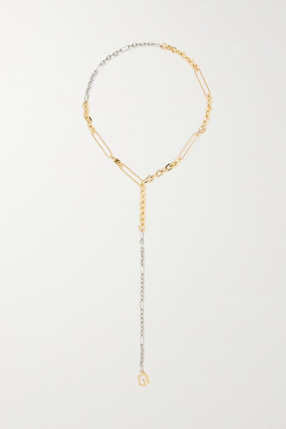 Givenchy Collier en métal doré et argenté