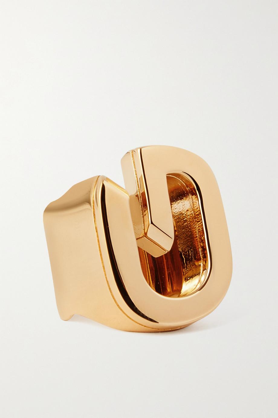 Givenchy Bague en métal doré