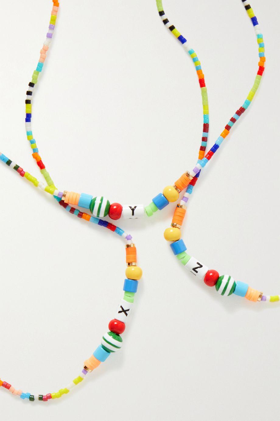 Roxanne Assoulin Alphabet Soup enamel and gold-tone necklace