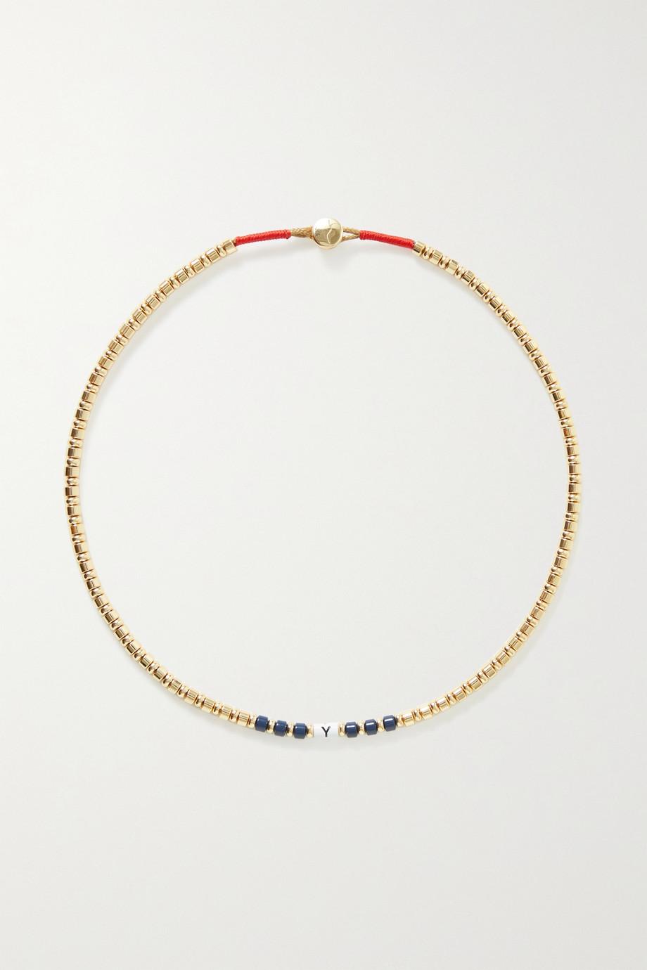 Roxanne Assoulin Little Letters enamel and gold-tone necklace