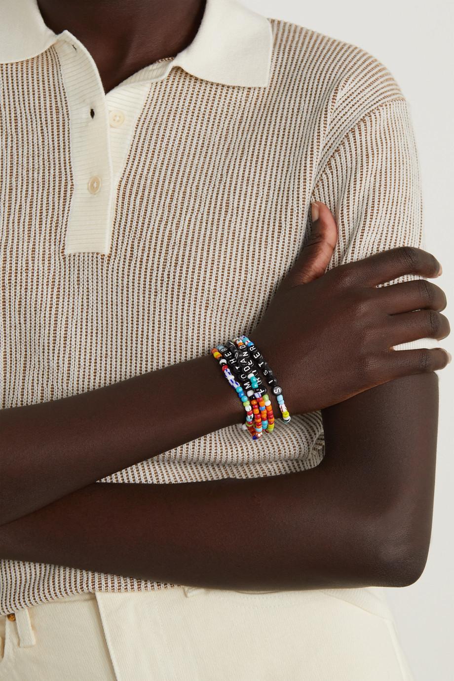 Roxanne Assoulin Set de cinq bracelets à perles