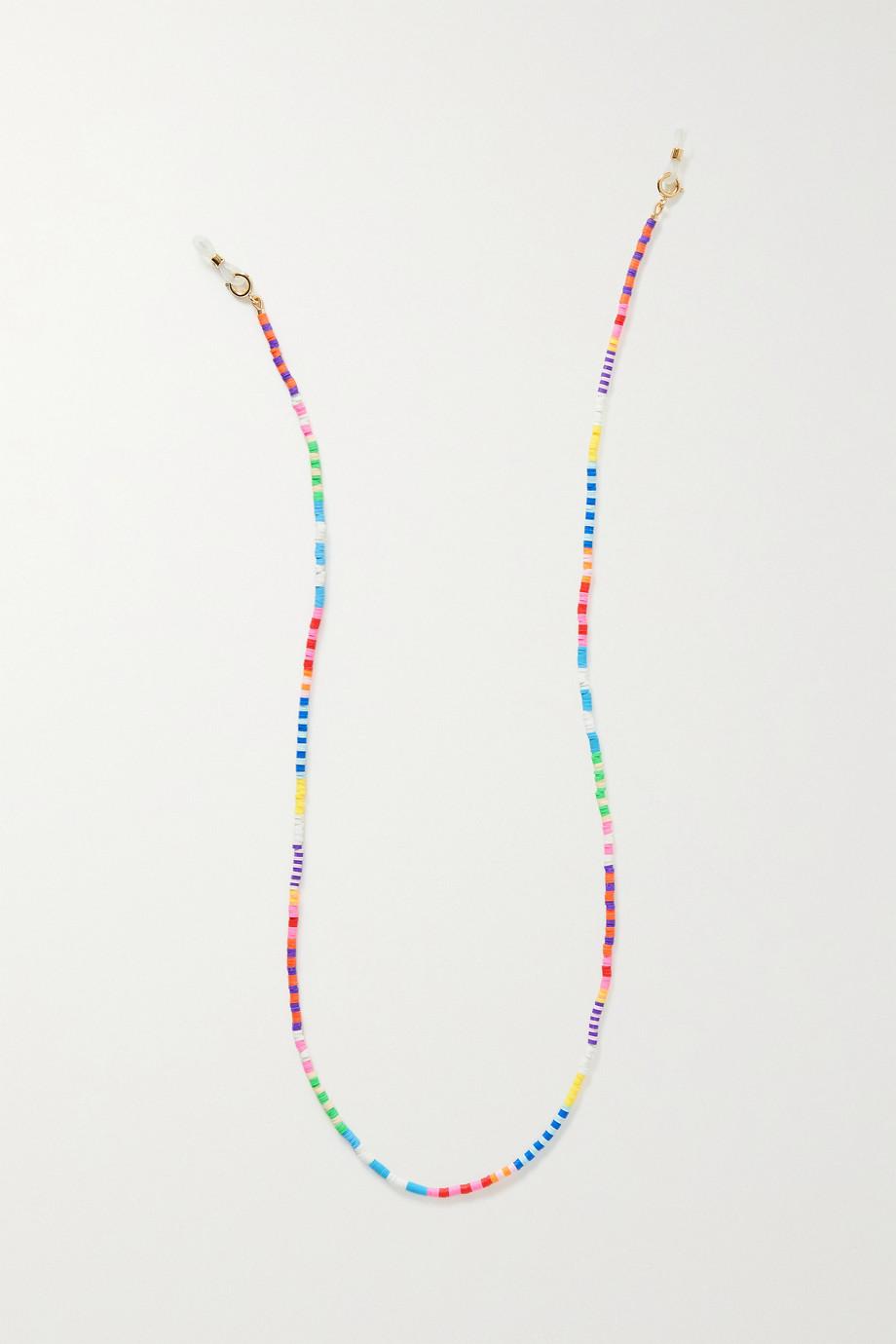 Roxanne Assoulin Technicolor rubber and gold-tone sunglasses chain