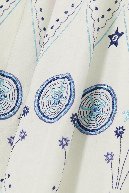 Le Sirenuse Positano Nellie Stromboli Maxikleid aus Baumwolle mit Stickereien