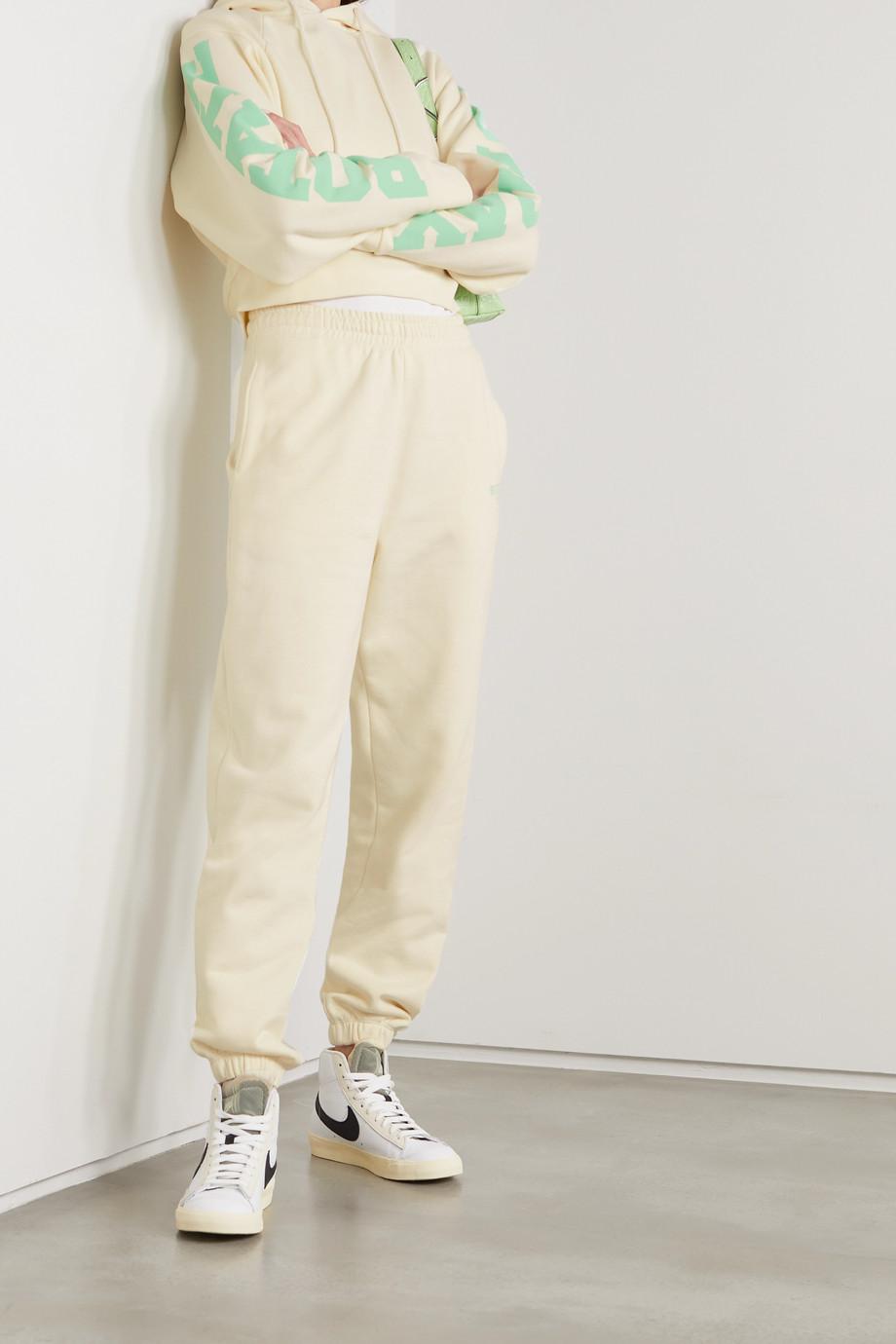 ROTATE Birger Christensen Pantalon de survêtement en jersey de coton biologique imprimé Sunday Mimi - NET SUSTAIN