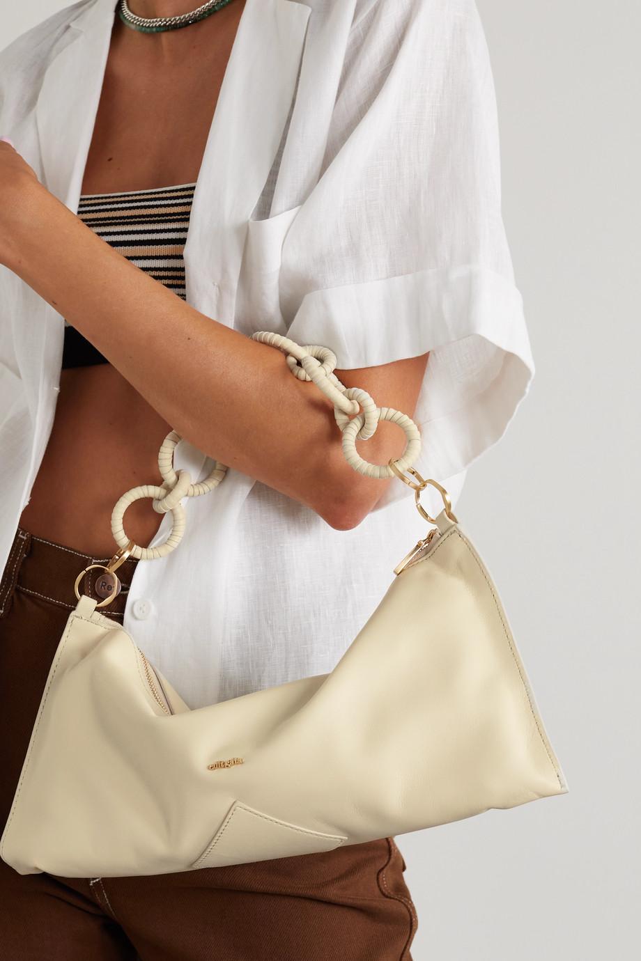 Cult Gaia Hera mini leather shoulder bag