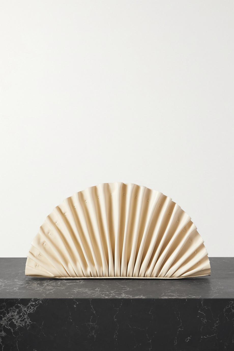 Cult Gaia Pochette en cuir plissé Nala