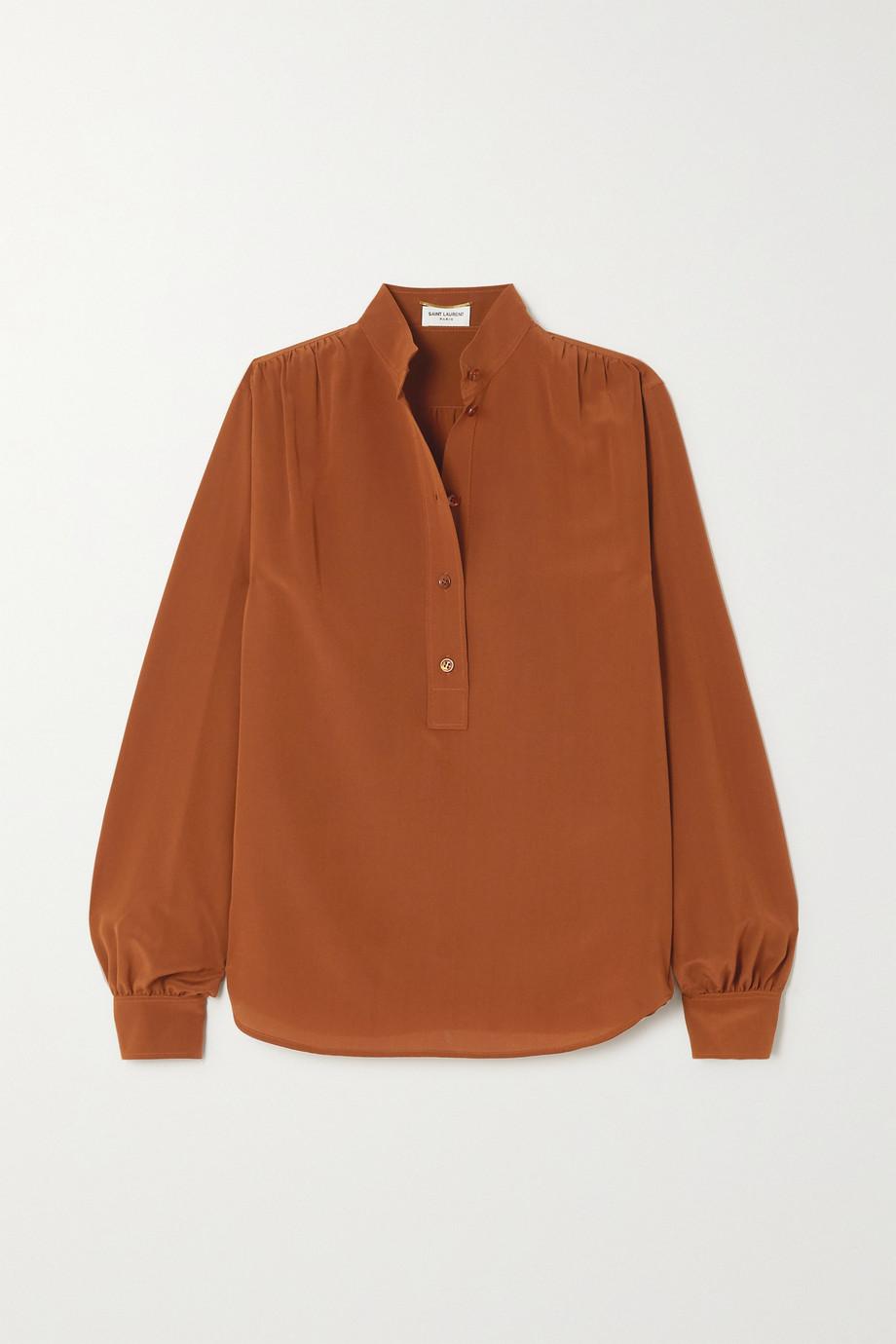 SAINT LAURENT Bluse aus Crêpe de Chine aus Seide