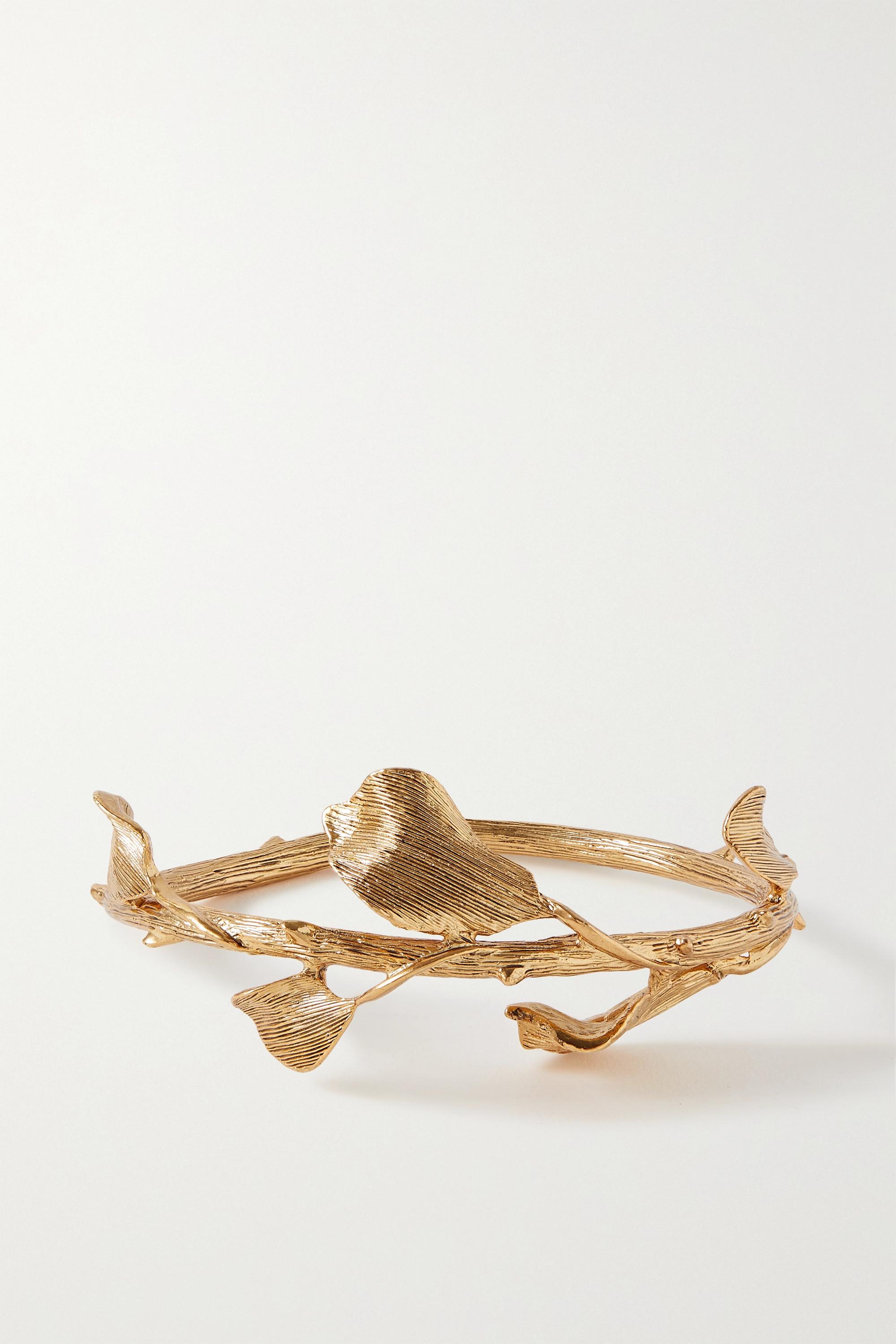 Oscar de la Renta Bracelet en métal doré Thorn and Branch