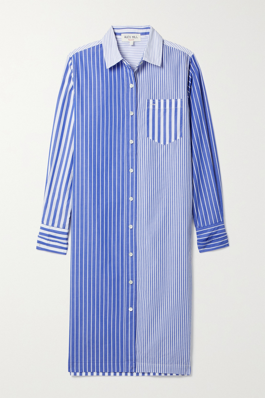 Alex Mill Kelsey striped cotton shirt dress