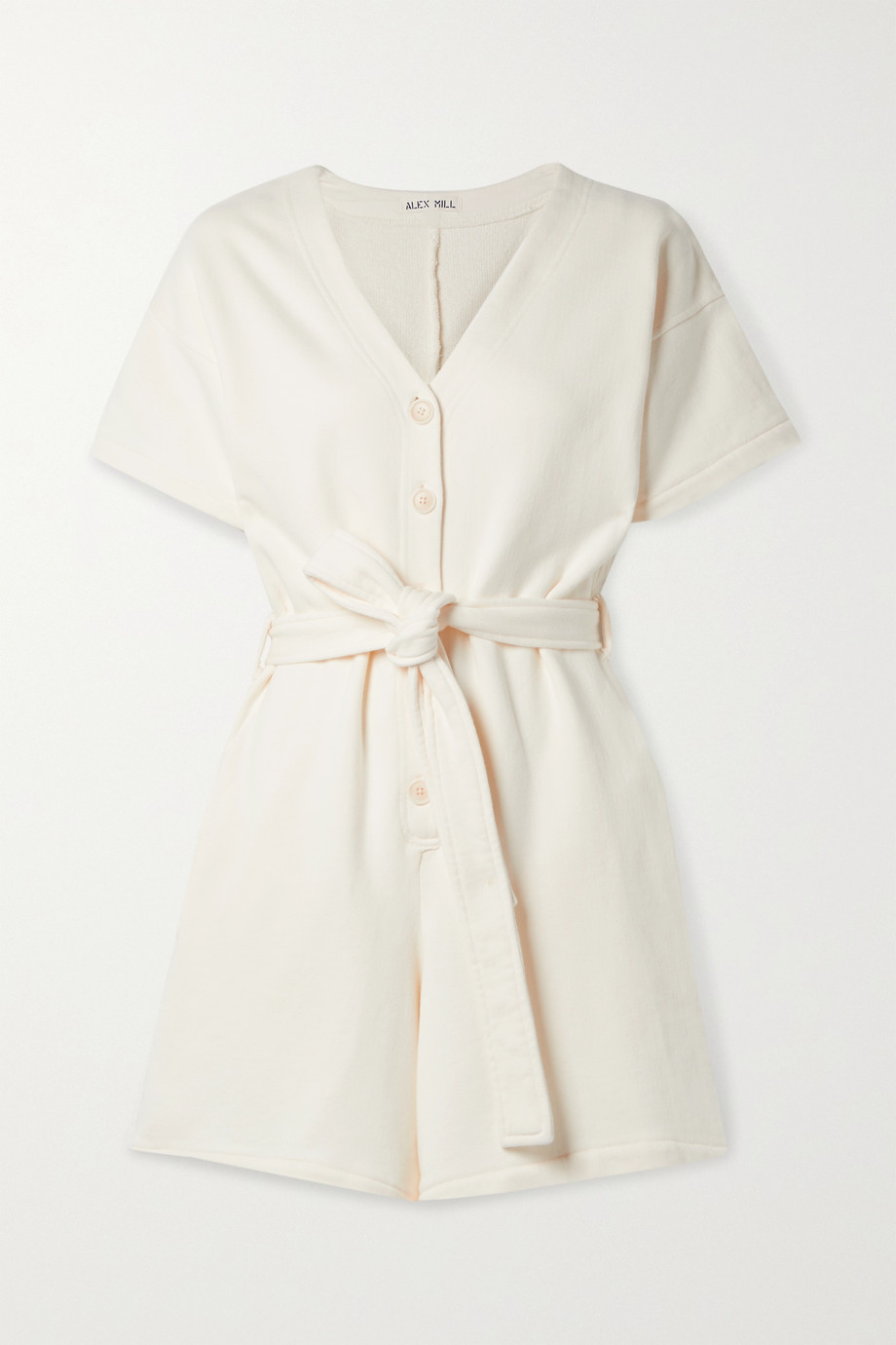 Alex Mill French cotton-terry playsuit