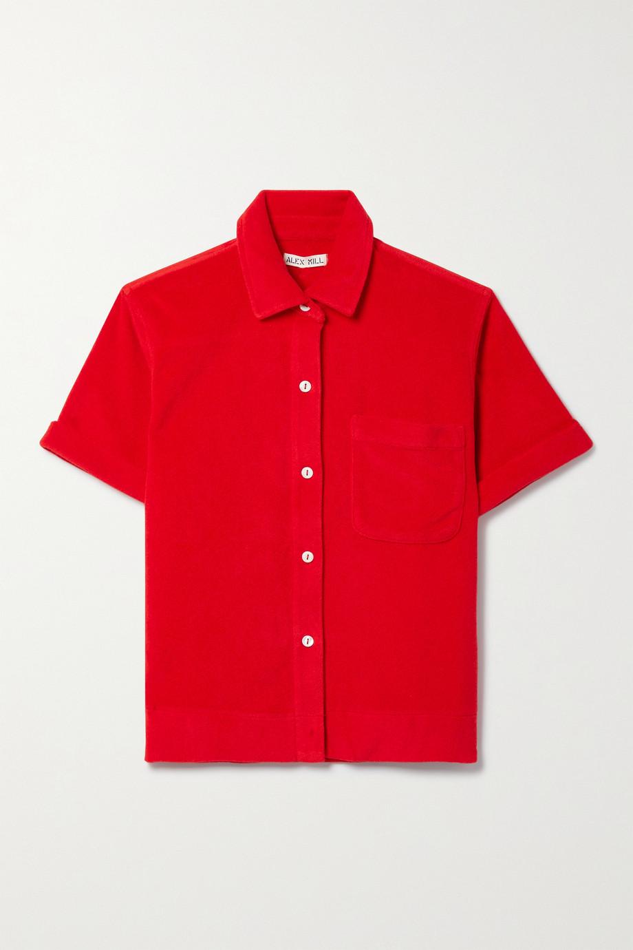 Alex Mill Benny cotton-blend terry shirt