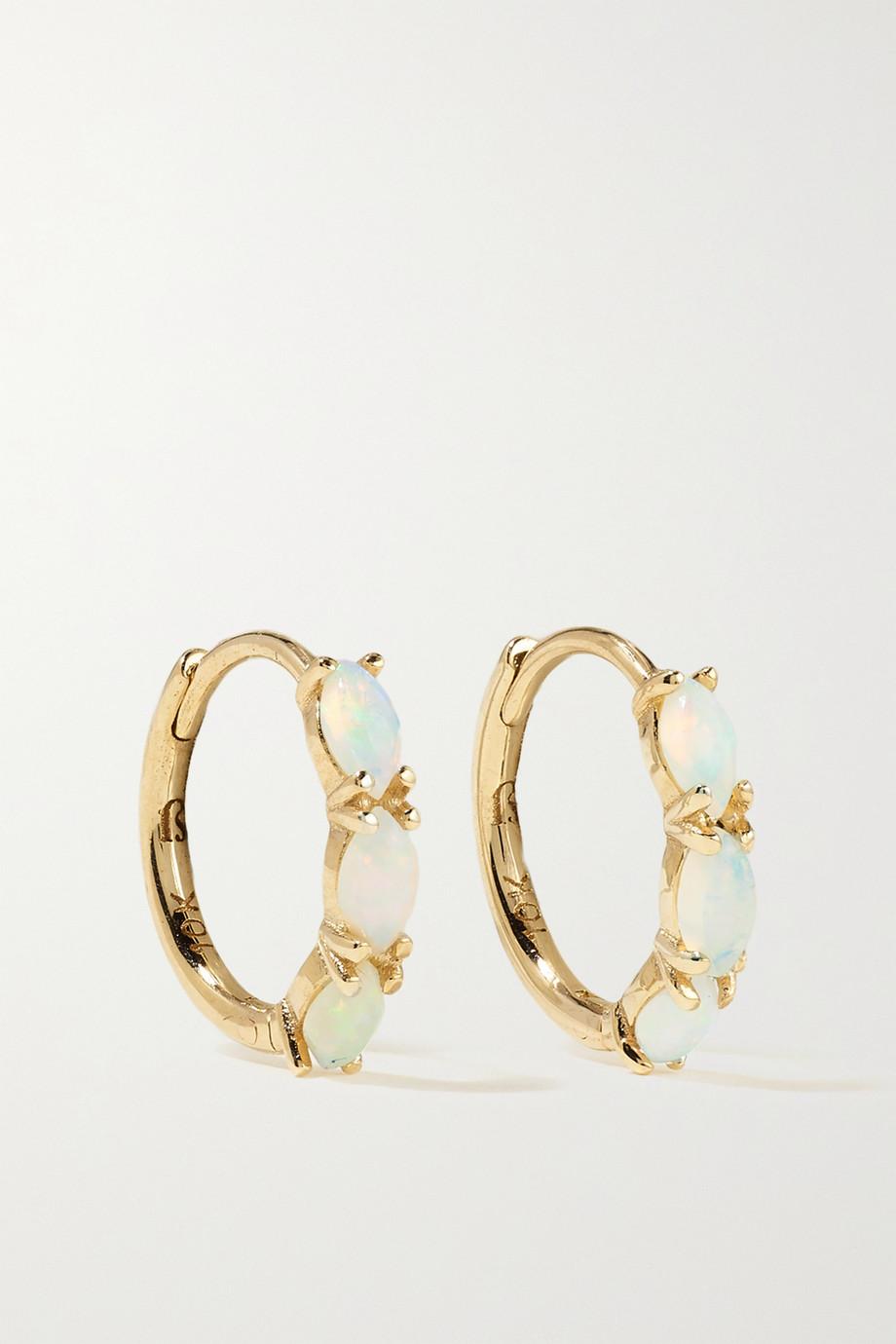 SARAH & SEBASTIAN Nymph gold opal hoop earrings
