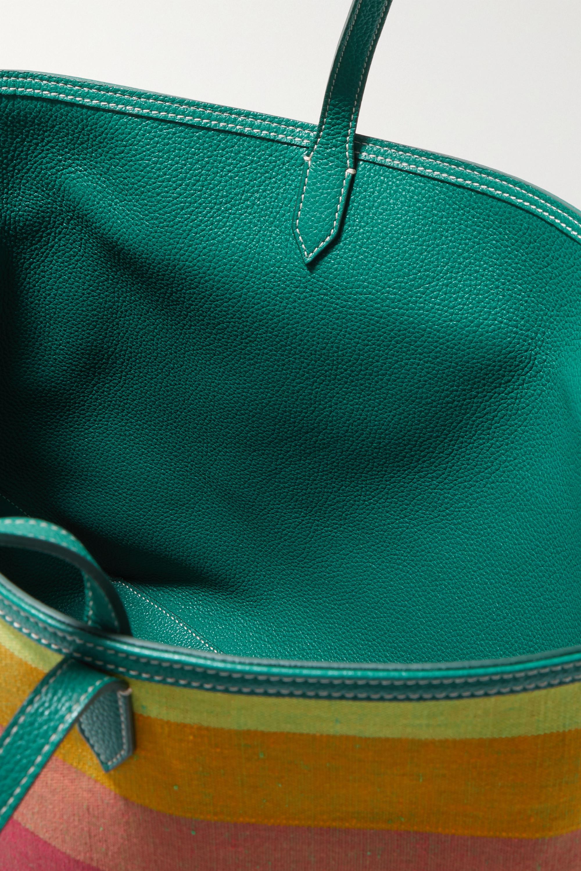 Altuzarra Sac à main réversible en toile de coton à rayures et en cuir texturé Duo