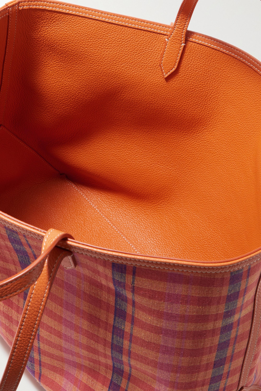 Altuzarra Sac à main réversible en toile de coton à carreaux et en cuir texturé Duo
