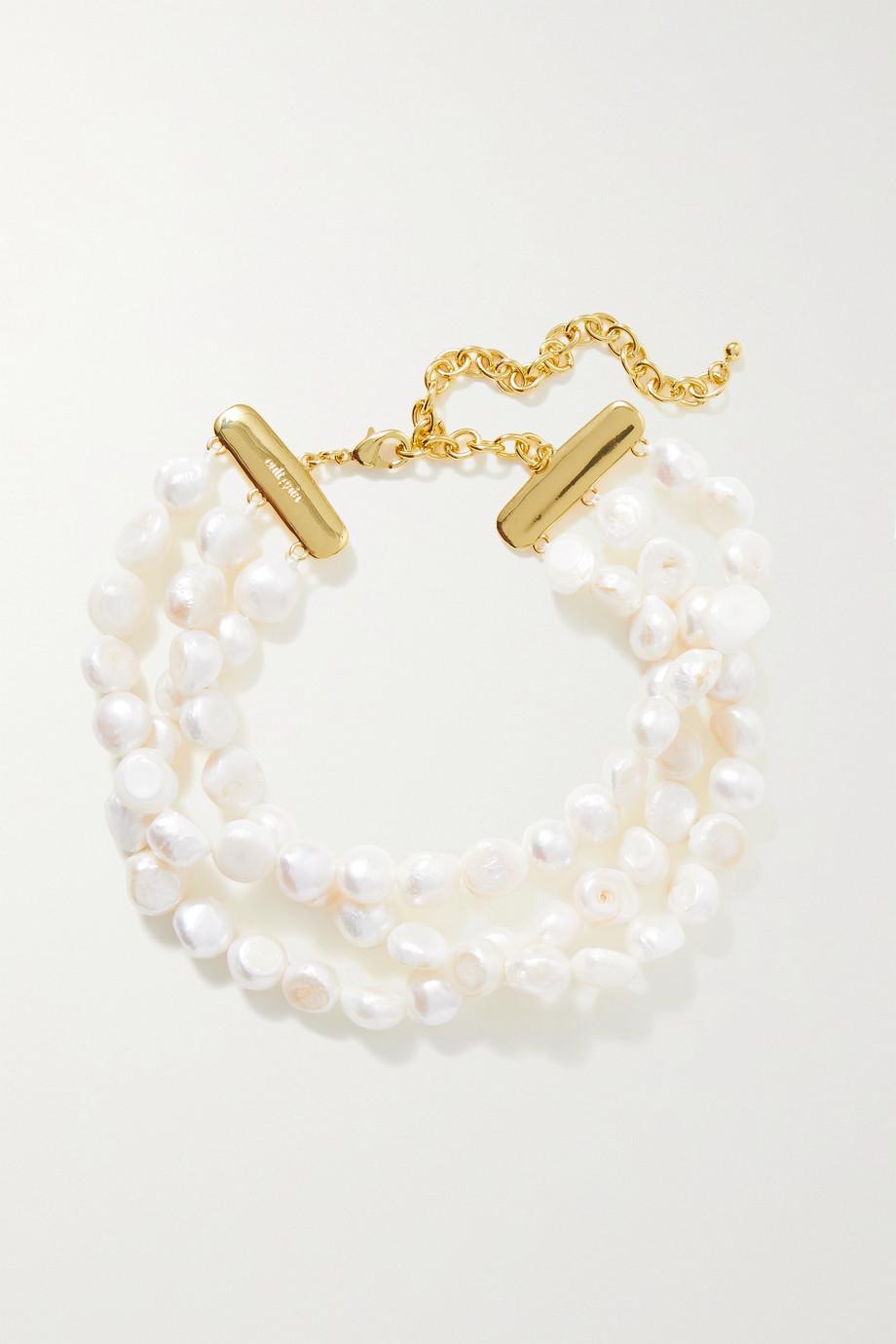 Cult Gaia Nora gold-tone pearl choker