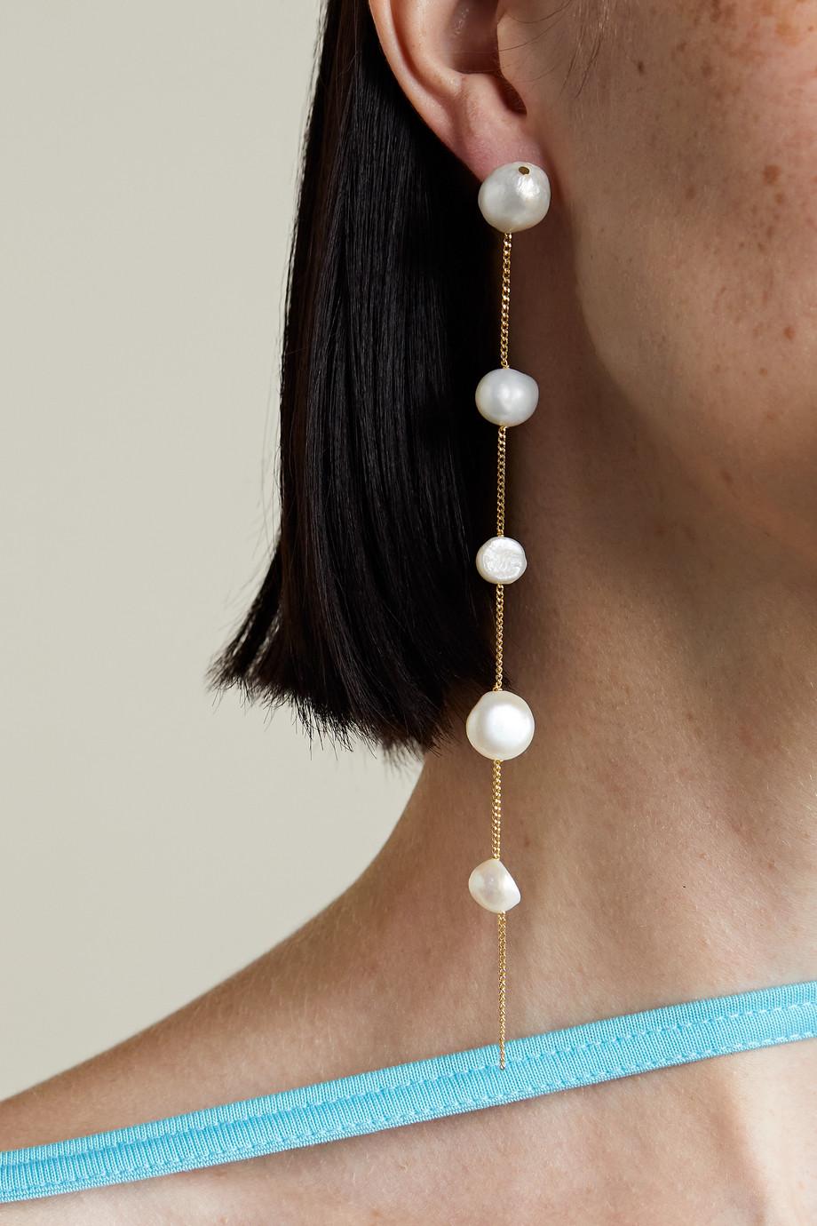 Cult Gaia Atum gold-tone pearl earrings