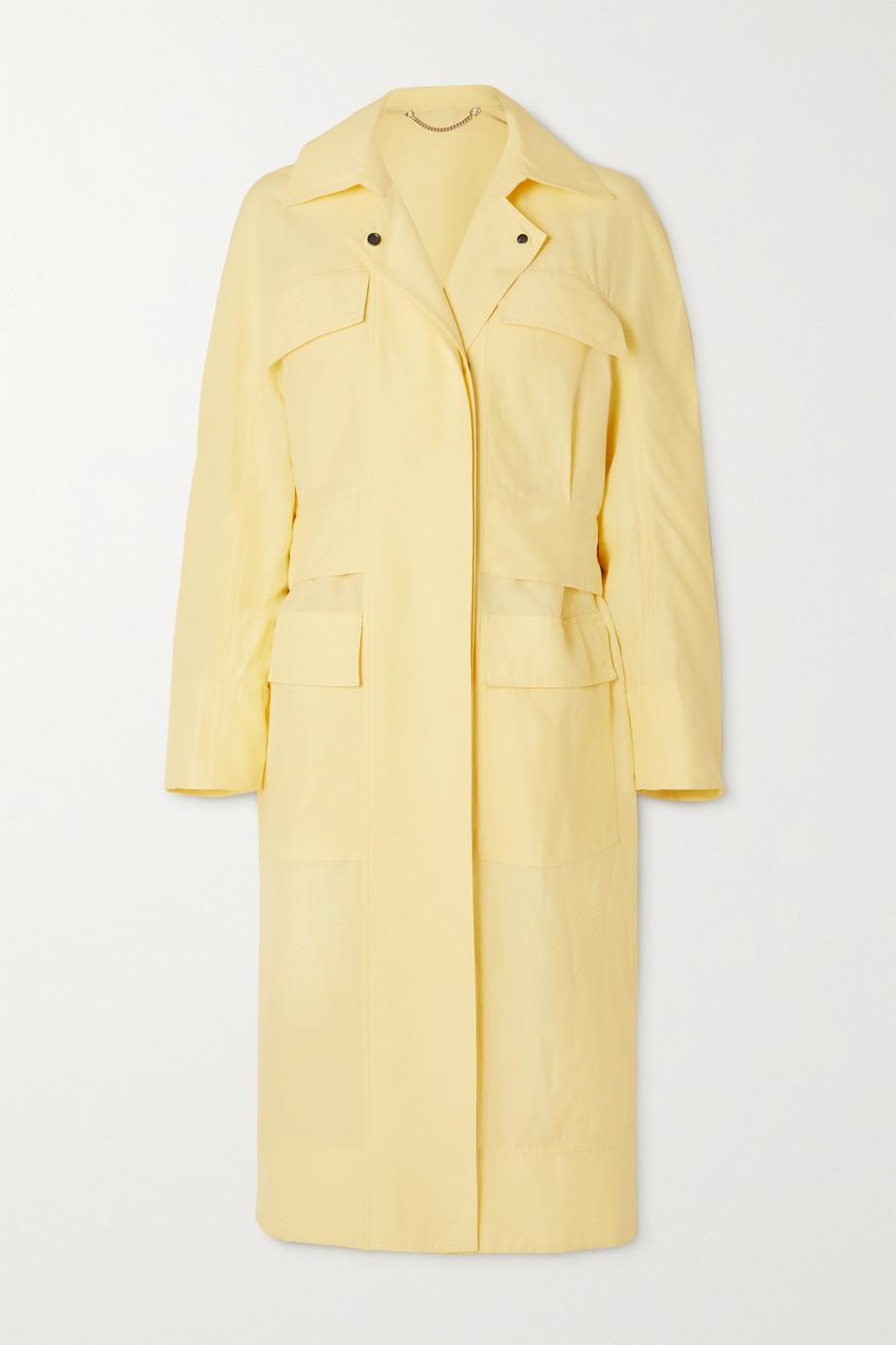 Salvatore Ferragamo Trench-coat en lin et soie mélangés