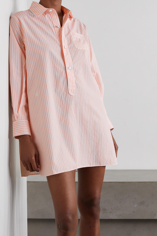 Morgan Lane Linnet striped organic cotton nightdress