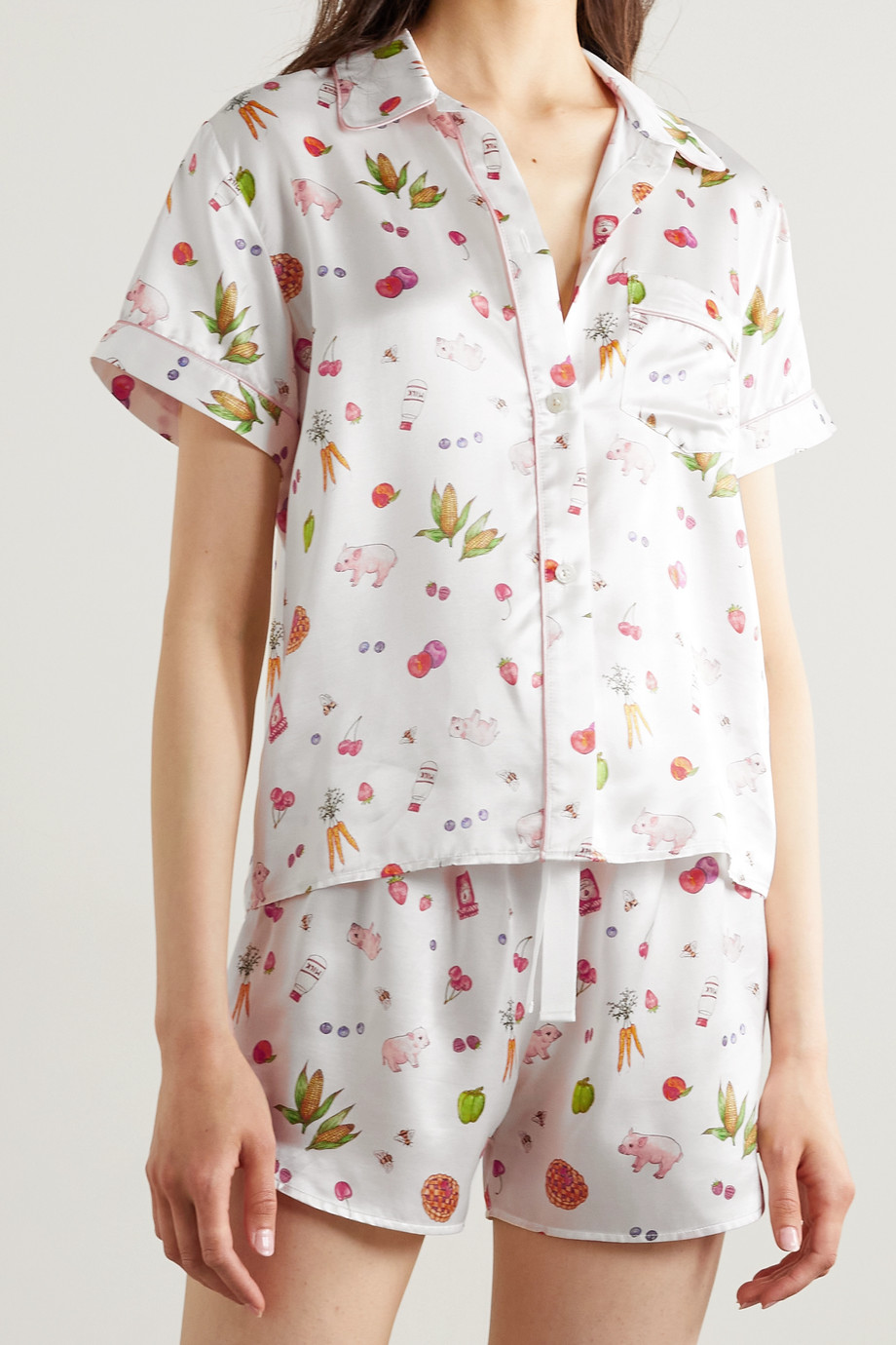 Morgan Lane Tami Bea printed satin pajama set