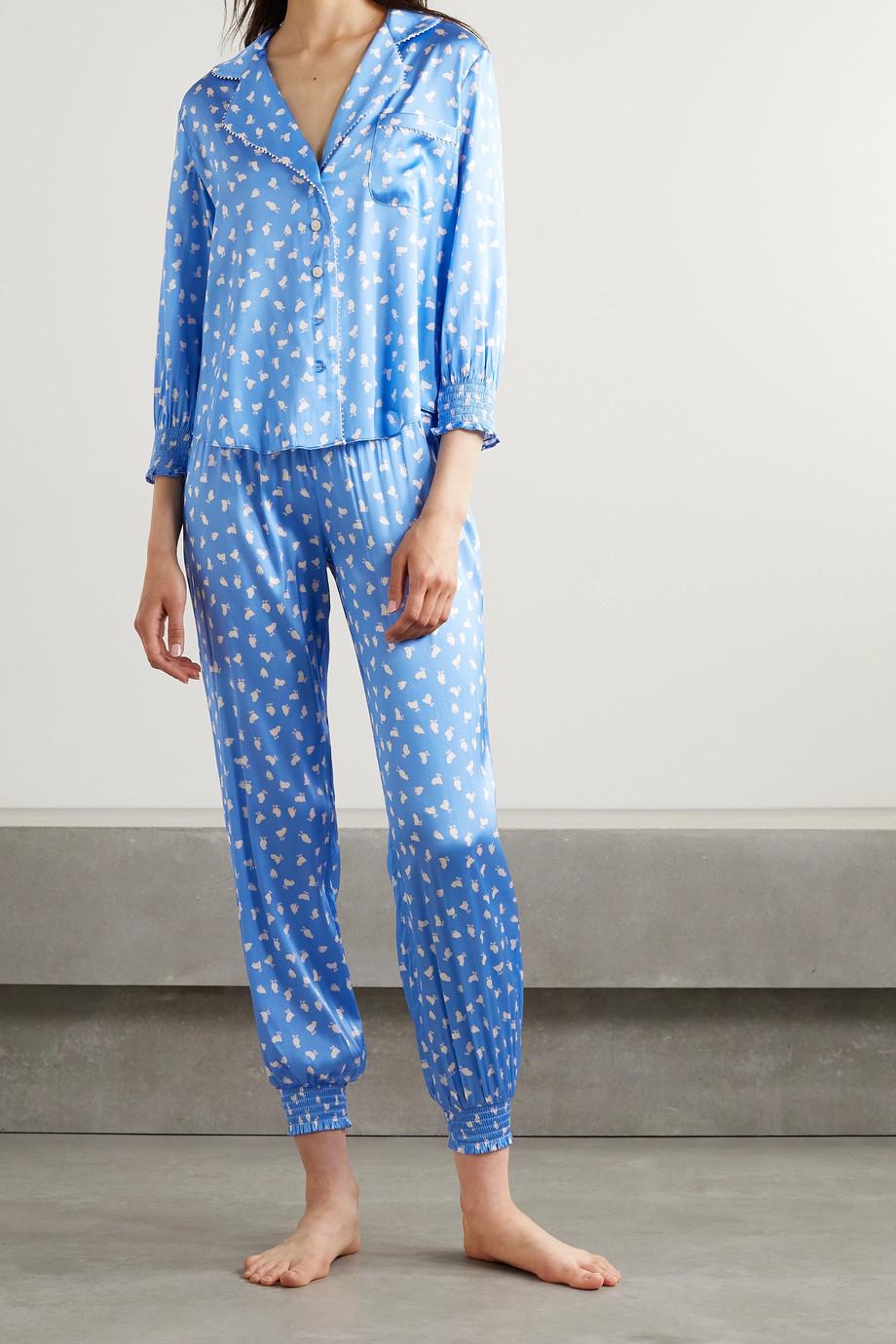Morgan Lane Anais Camille printed silk-blend satin pajama set