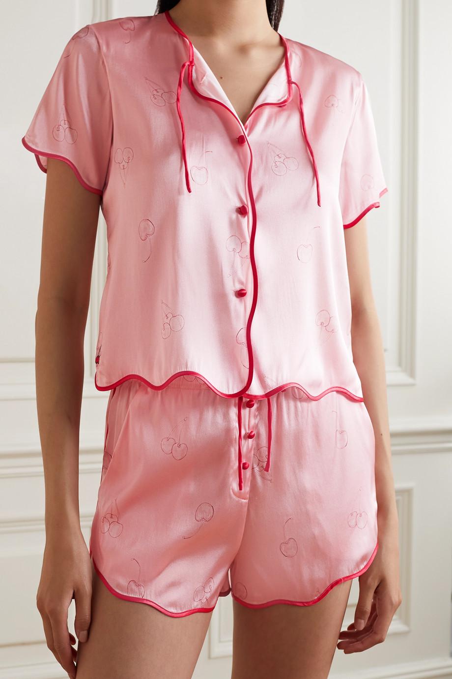 Morgan Lane Pyjama en satin de soie mélangée imprimé Beatrice Tally