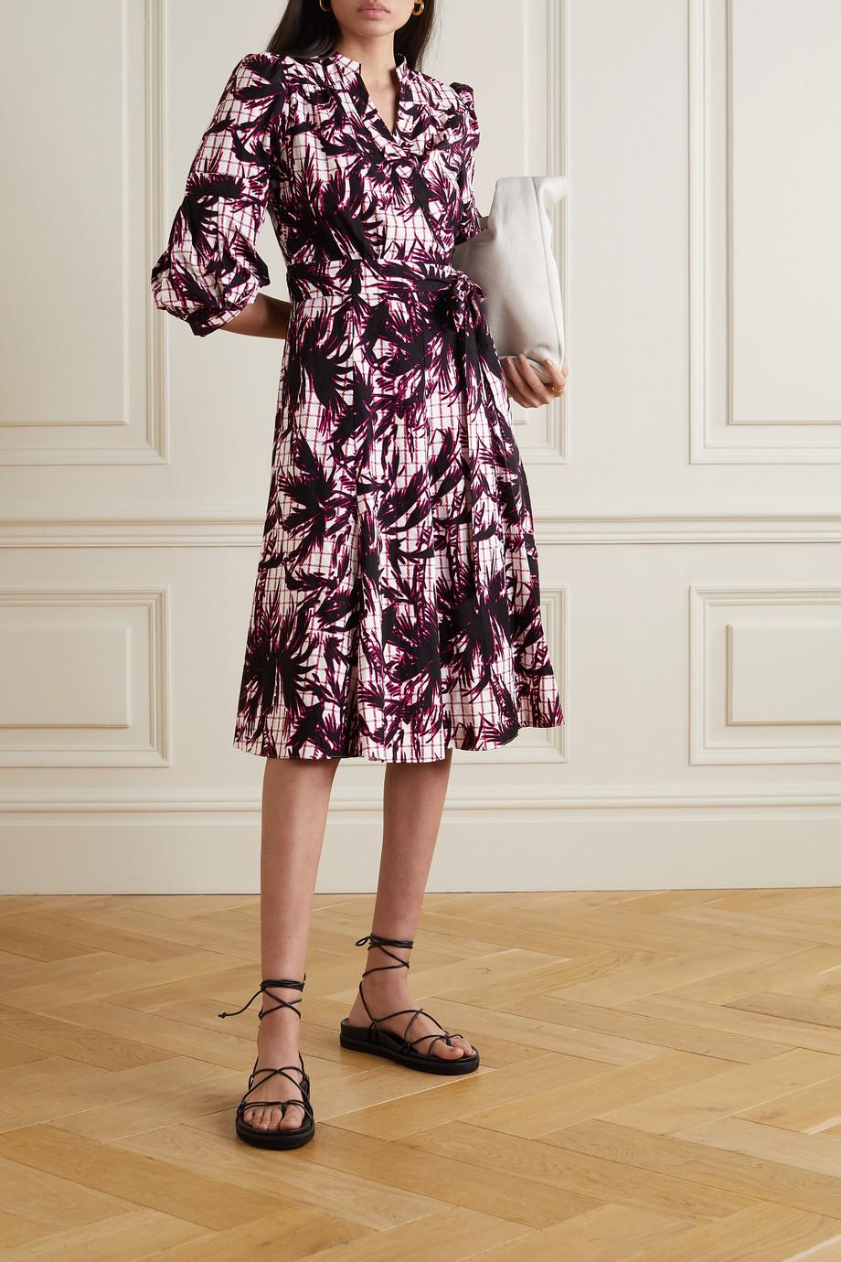 Diane von Furstenberg Adele printed cotton-jacquard wrap dress